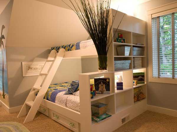 婚房空间巧利用 双层上下床装修设计