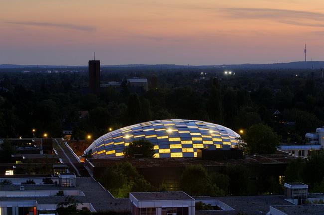 下的曲线之美 柏林自由大学 脑袋 图书馆图片