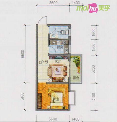 美式风格遇上后现代 4万轻松搞定45平小公寓
