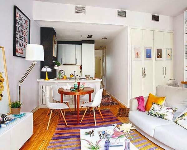 马德里多彩公寓:用五彩颜色点缀青春梦想