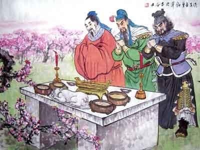 """历史上刘备关羽张飞三人从未""""桃园三结义"""""""