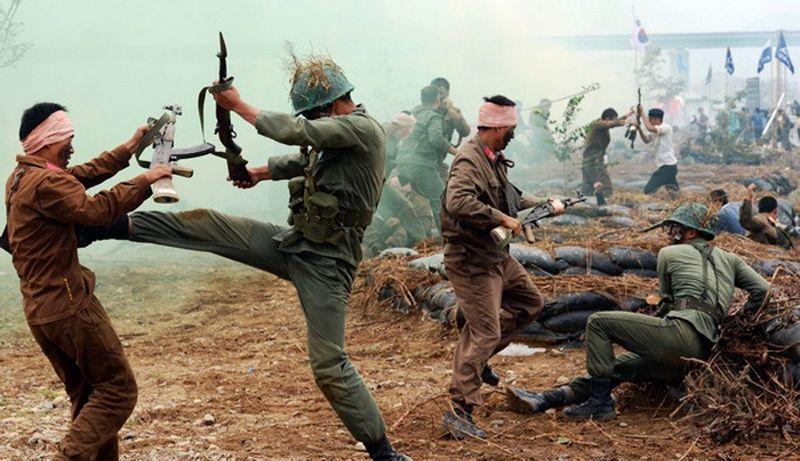 """纪念朝鲜战争韩国重演经典战役:朝军惨遭""""割喉"""""""