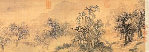 产经 商业地标  张宏曾以古诗词作画,用画来表达诗意,他那种不拘泥于
