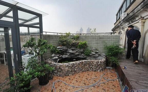 农村楼顶养鱼池设计图展示