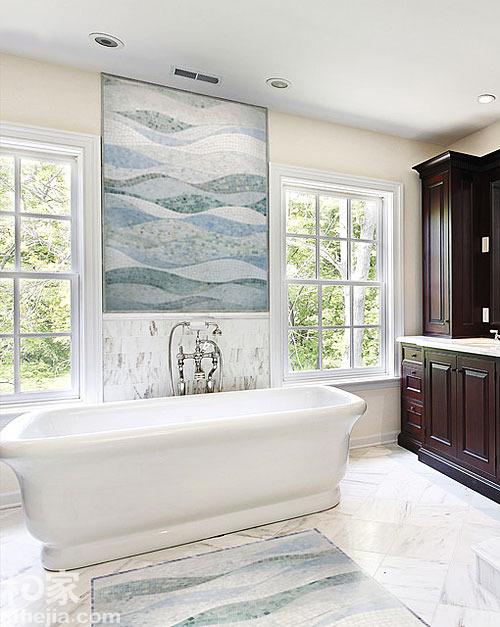室内墙地面装修.它们的组合千变万化,较之大块墙、地砖更活高清图片