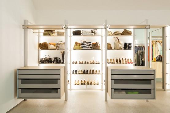 的渴望,步入式衣柜让梦想有了实现的可能.多样的功能分区,满足