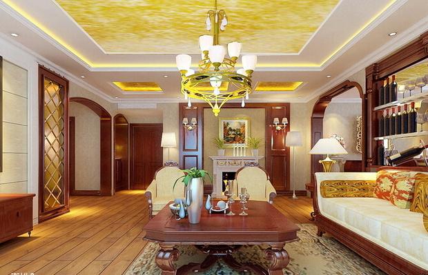 168平奢华美式风来袭 三室两厅新房装修