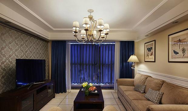 传统美式新房装修 三室一厅温馨住宅