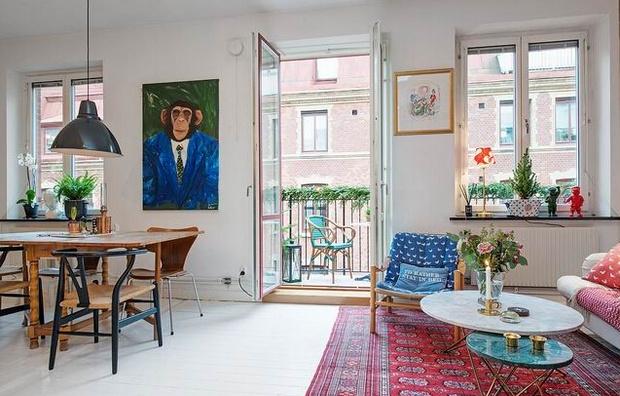 40平米单身公寓装修 个性复古的小窝