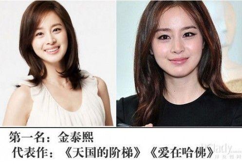 韩国十大最美无整容女星