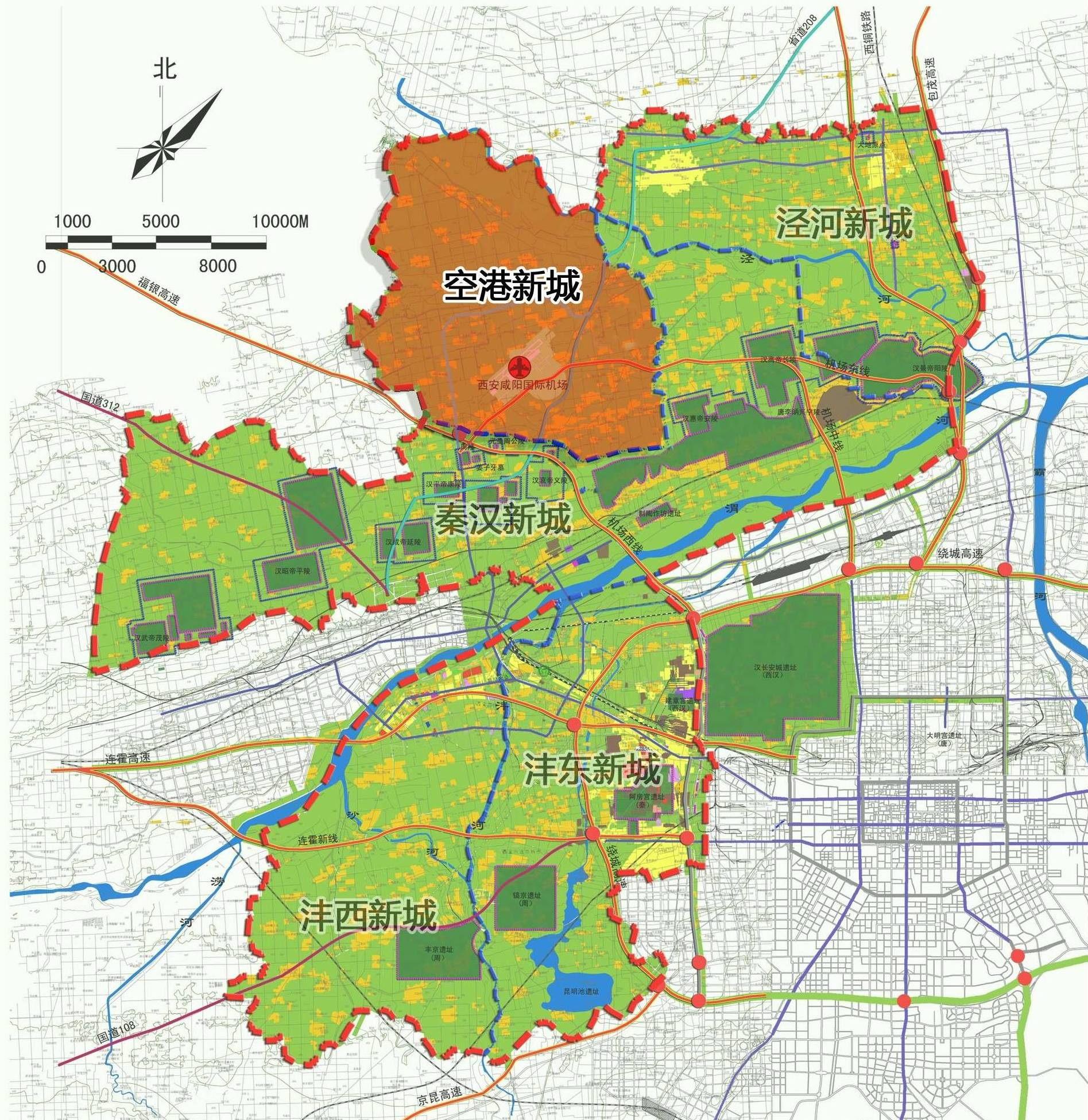 空港新城规划图-西咸新区 西咸新区 qq2936695267