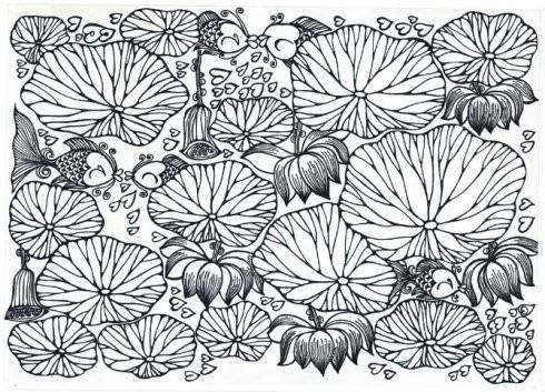 图:晓蕊手绘莲花