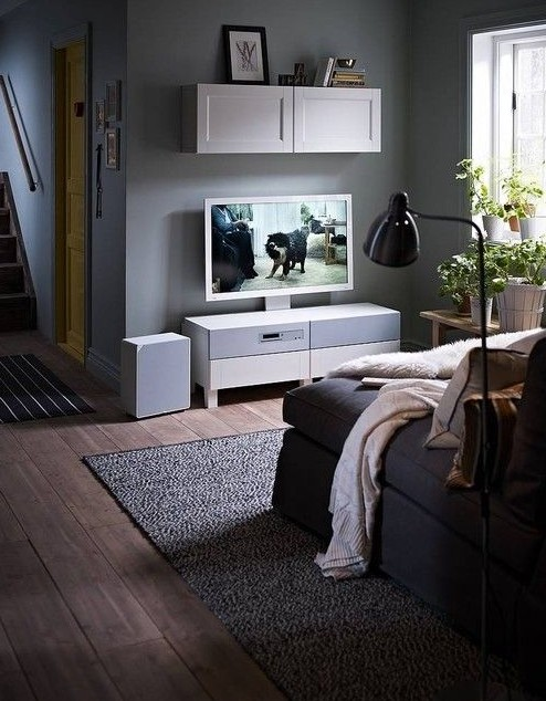 宜家实现电视,音响和客厅家具一体化