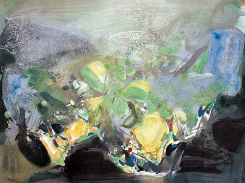 抽象派大师朱德群油画作品欣赏 组图