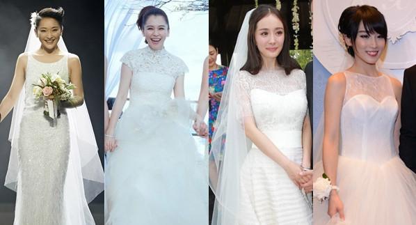 婚纱整体设计简约,但细节之处看点多多.