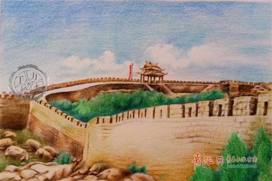 大学生手绘家乡海景 将手绘q版青岛名人