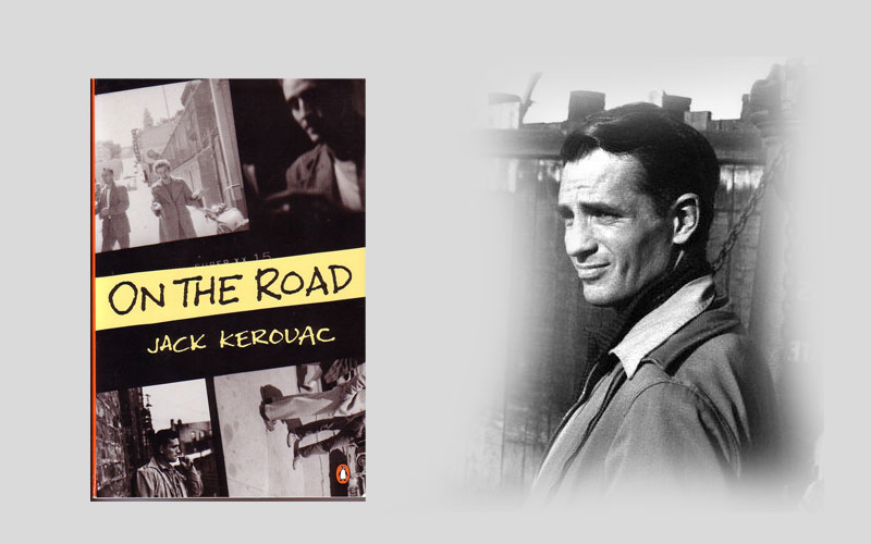 他的主要作品有自傳體小說《在路上》,《達摩流浪圖片