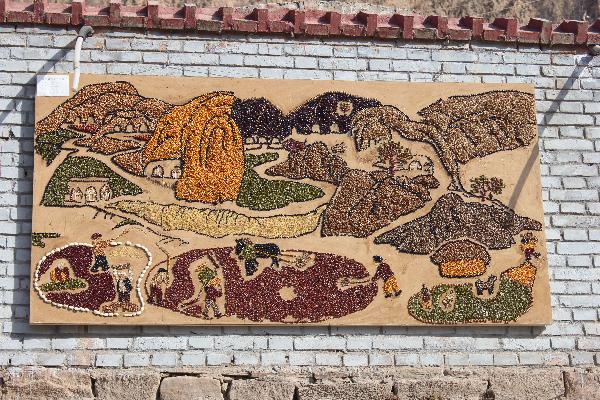 赤牛坬五谷画 民间艺术的一朵奇葩