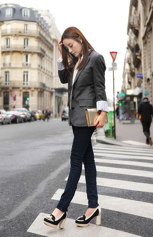 李小璐2012巴黎秋冬时装周街拍