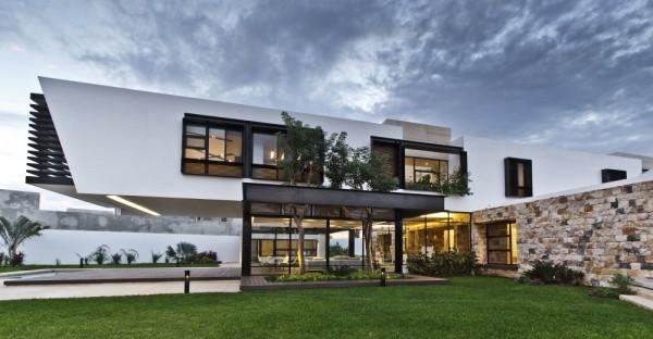 l型创意家居布局 墨西哥现代别墅设计图片