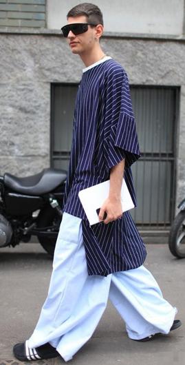 2015春夏巴黎男装周秀场外街拍 精彩穿搭让你看过瘾