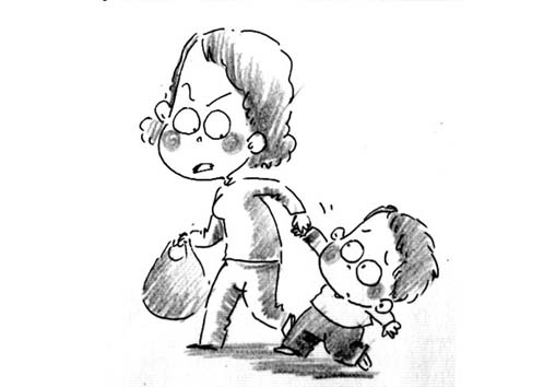 幼儿在幼儿园玩耍简笔画