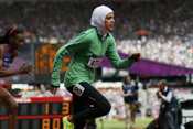 沙特首位女田径运动员