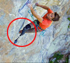 独腿男子每周5次攀岩