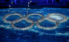 索契冬奥会闭幕式 四环终变五环