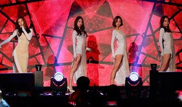韩国女组合现身游戏竞赛