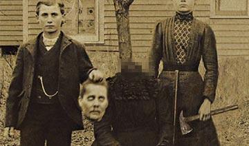 百年前恐怖恶搞照片:手捧头颅微笑合影 残忍无下限