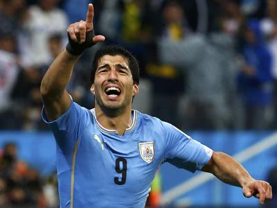 苏亚雷斯复出第一球!乌拉圭1-0英格兰