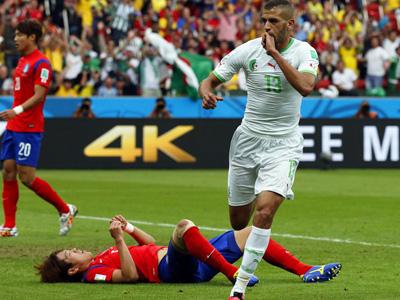 苏莱曼尼破门 阿尔及利亚1-0韩国