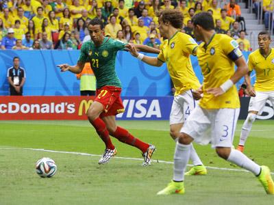 马蒂普门前包抄破门 喀麦隆1-1扳平巴西