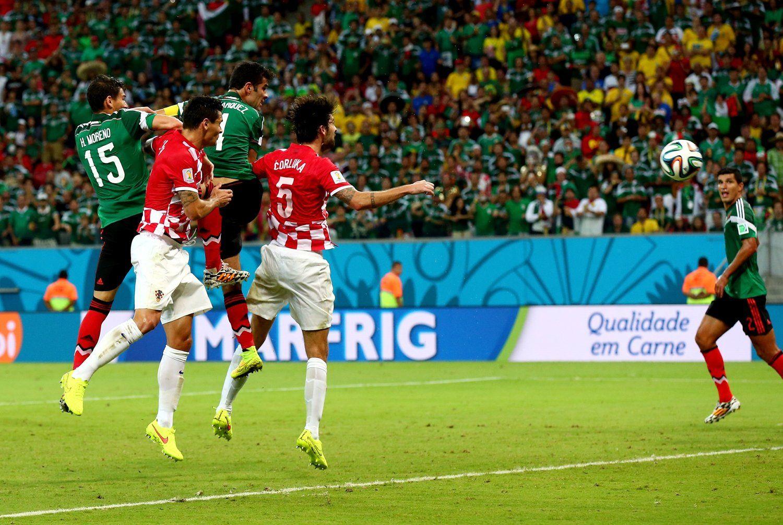 马克斯头球破门先拔头筹 墨西哥1-0领先克罗地亚
