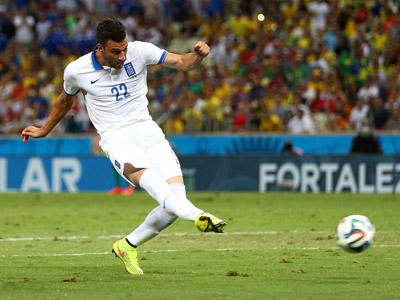 萨马里斯单刀破门得分 希腊1-0领先科特迪瓦