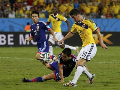 罗德里格斯扩大战果 哥伦比亚4-1大胜日本