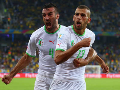 苏莱曼尼头球破门 阿尔及利亚1-1俄罗斯