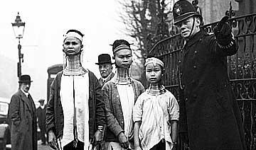 1935年缅甸诡秘族人拜访伦敦 怪异样貌引起全城轰动