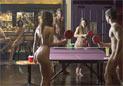 伦敦举办首届裸体乒乓球赛
