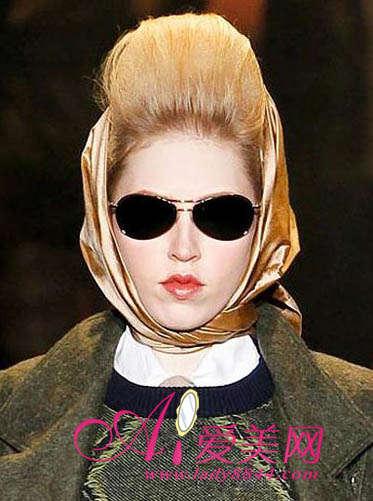 T台发型搭配头巾怎么样
