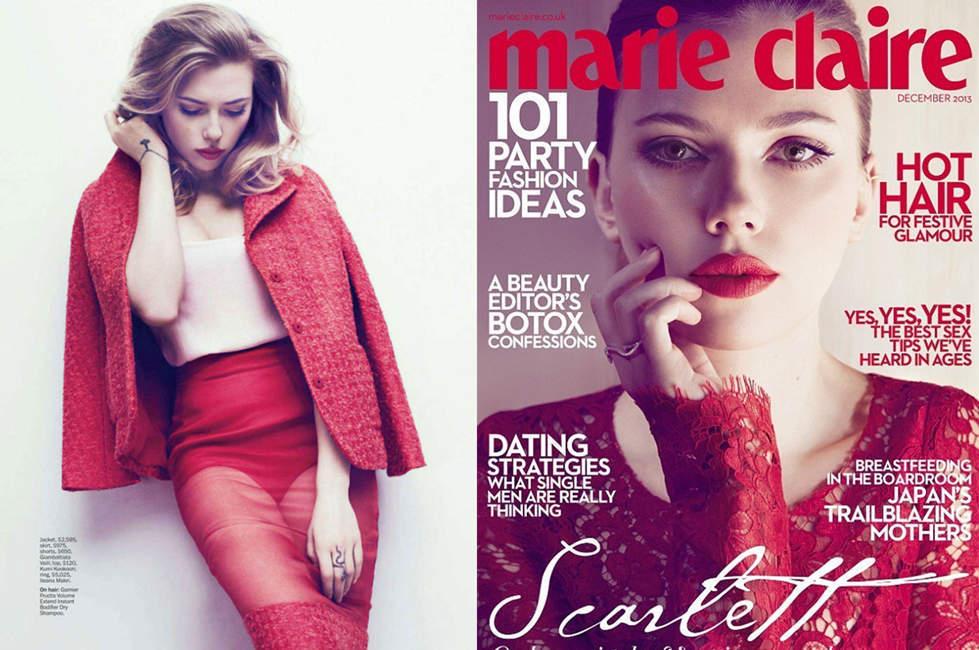 斯嘉丽登时尚杂志封面