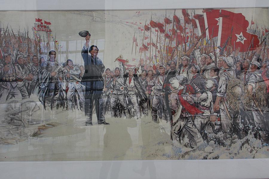 的延安精神,以艰苦奋斗?-延安颂 黄土画派作品展在武汉开发区开幕