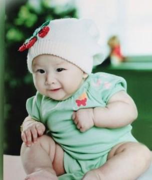 胖胖的可爱头像小孩