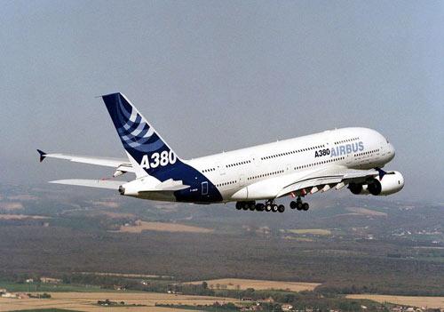 资料图:空中客车a380飞机