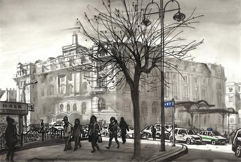 英国街道手绘贴图
