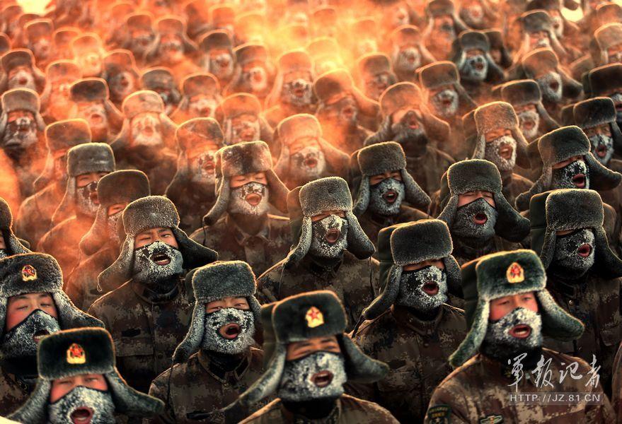 黑龙江军区边防官兵组织晨练 气温达零下30度(2/4 -  东方.旭 - 东方.旭的博客