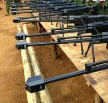 中国/资料图:网上流传的缅甸佤邦联军使用中国M99狙击枪。
