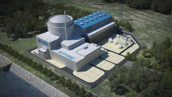 中国/AP1000核电站概念图...