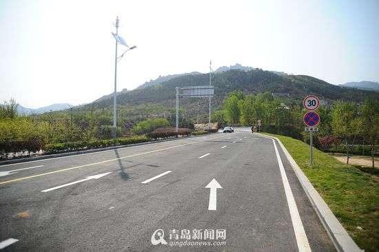 青岛北九水开通旅游专用路 限速30公里直达景区